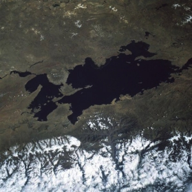 titicaca lake pointing south